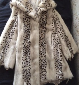 Норковая шуба леопардовой окраски