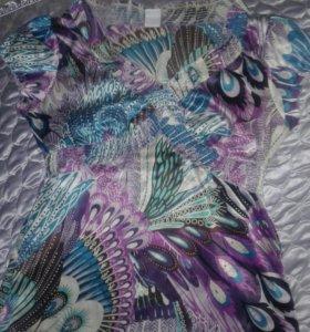 Блузка шелковая.