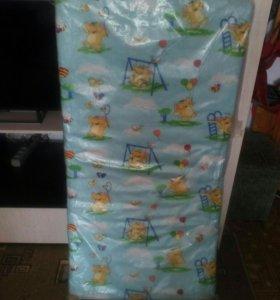 Детский матрасик в кроватку на кокосе