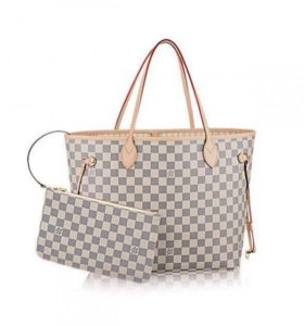 ЖЕНСКАЯ СУМКА LOUIS VUITTON NEVERFULL WHITE