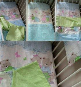 Детское постельное белье в кроватку 60*120