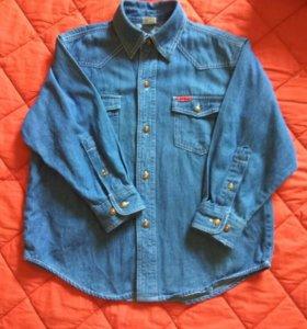 Джинсовая рубашка для мальчика.