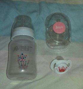 Бутылочка и соска AVENT