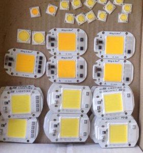 Светодиоды 220вольт для ремонта прожектора.