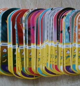 """Карточки из серии """"Миньоны"""" . Полный комплект."""