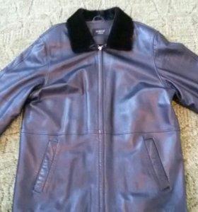 Куртка кожаная 54-56 размера