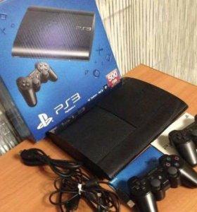 Sony PlayStation 3 Super Slim 500 Гб+ 2 dualshock
