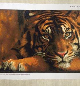 """Картина стразами """"Тигр"""""""