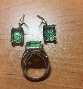 Набор серёжки и кольцо