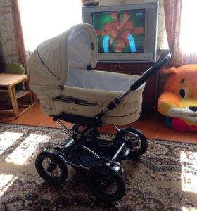Продам коляску фирма Emmaljunga кожаная
