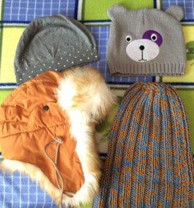 шапочки осенние/весенние/зимние по 200 и 300 руб