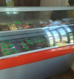 Витринный холодильник среднетемпературный 1,5 метр