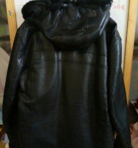 Куртка мужская кожаная!