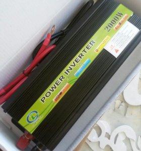 Преобразователь тока 12-24в - 220в инвектор