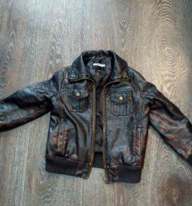 Продам детскую кожаную куртку для мальчика