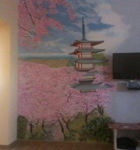 Художественная роспись и креативный покраска стен.