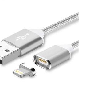 Магнитный зарядный кабель для iPhone 5, 5s, 6, 6s.