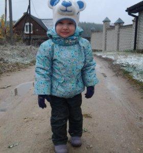 Полукомбинезон и куртка для девочки