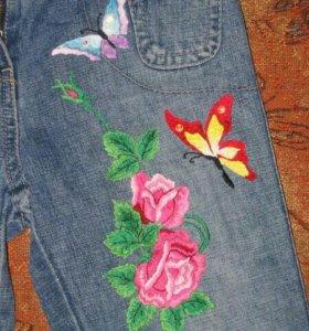 Вышивка на джинсе
