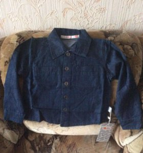 Джинсовая рубашка( новая) Orby р-р 86-92