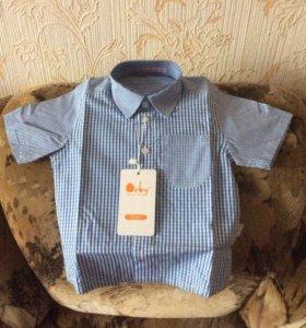 Рубашка на мальчика (новая) Orby р-р86-92