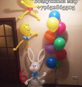 Заяц из шаров и др