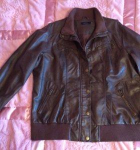 Новая кожаная куртка большого размера, 54-56