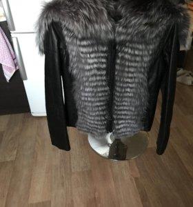 Куртка-жилетка с меховым отстегивающимся подкладом