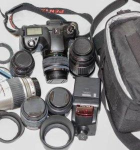 Фотоаппарат Pentax K10D с набором объективов