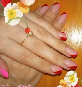 Педикюр,маникюр и покрытие ноктей гельлаком,дизайн