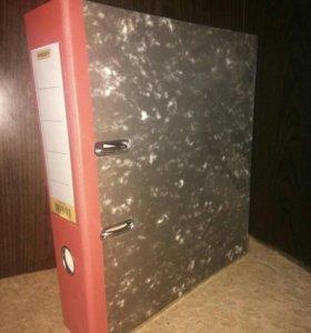 Папки регистраторы 80 мм с карманом