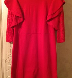 Платье б/у один раз, рукава гипюровые