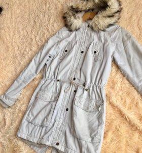 Женская парка, демисезонная куртка 44 S