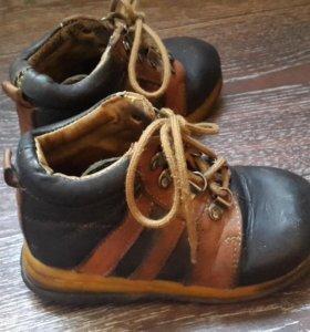 Кожаные ботинки б.у