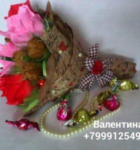 Букеты из конфет. Вкусный и необычный подарок