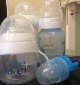 Бутылочки Авент и ниблер