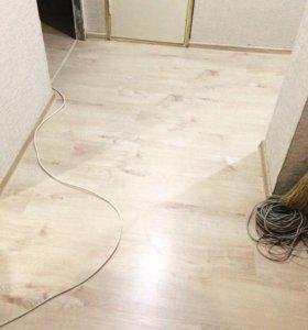 Напольные покрытия,электрика, стеновые перегородки