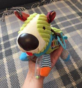 Развивающая игрушка-погремушка Собачка
