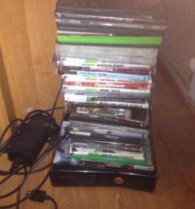Xbox360 прошитый 2 джостика