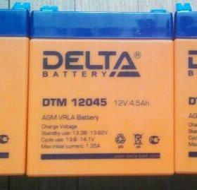 Тяговые аккумуляторы Delta DTM 12045 (12В/4.5Ач)