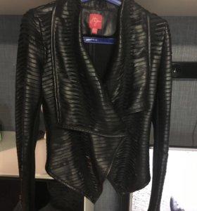 косуха кожаная куртка оригинал чёрный цвет