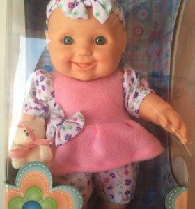 """Кукла """"Малышка с мишуткой"""" новая"""