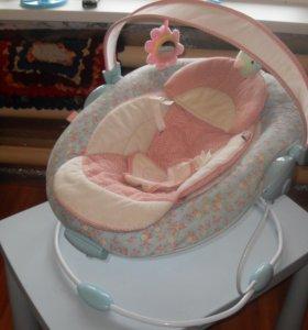 Шезлонг детский happy baby 0+