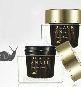 Крем holika black snail repair cream