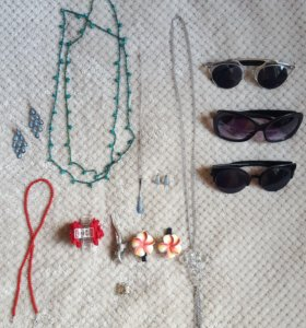 Бижутерия и очки пакетом