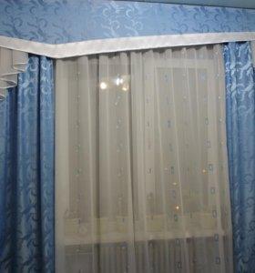 Тюль и шторы с бандо.