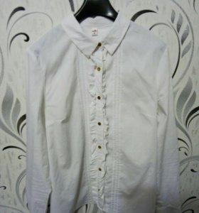Белая блузка с длинным рукавом, Zolla