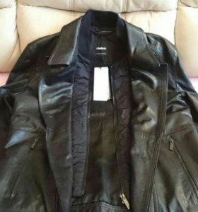 Кожаная куртка Strellson, новая р.48-50