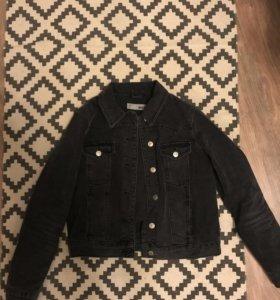 Джинсовая куртка Topshop чёрная