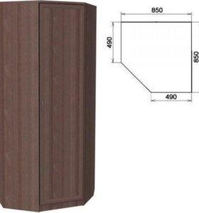 Шкаф угловой со штангой и полками 400